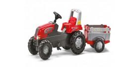 Tractor de juguete rolly junior rt con remolque